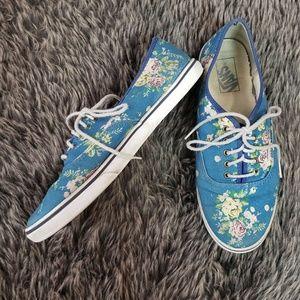 VANS Low Pro Blue Floral Shoes